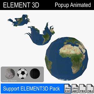 3D element3d popup earth sphere model