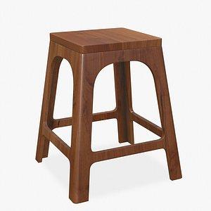 Stool Chair Wood model