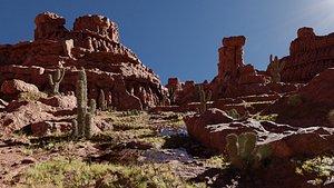 3D Canyons Scene model