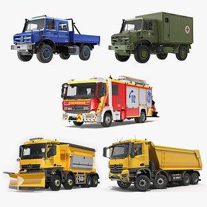 3D Mercedes Benz Trucks Collection 2