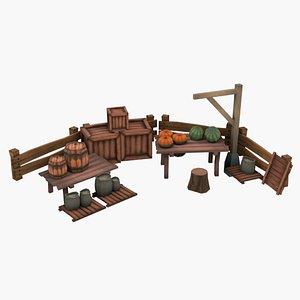 wooden pack wood 3D model