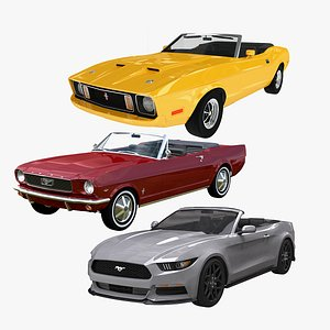 Ford Mustang Convertible Collection 1966-2017 3D