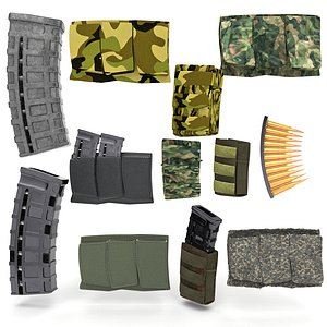 magazine pouch set pbr model
