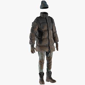 men s winter clothing 3D