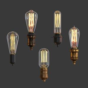 3D lamp set model