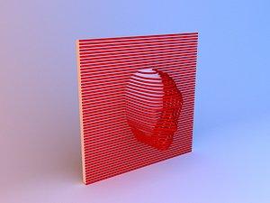 3D model Head interior decoration - art - desing 3D model