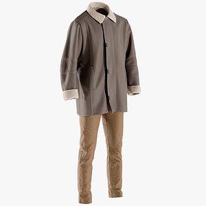 3D model pants coat