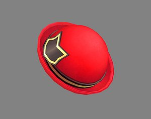 3D Cartoon red lady hat - Casual hat - Round hat