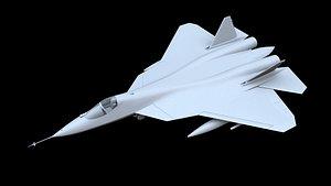 3D model sukhoi su-57