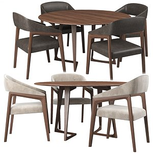 3D model lara chair twist table