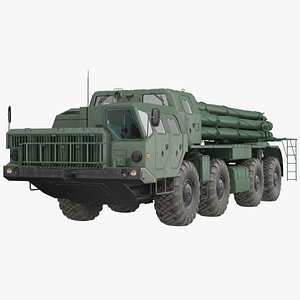 Smerch BM-30 Heavy Multiple Rocket Launcher 3D model