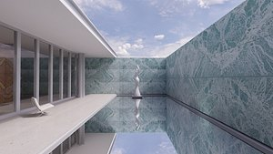 Barcelona Pavilion Mies Van Der Rohe 3D model