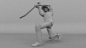 Cricket Betsmen Drive 3D model