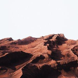 Desert Mountain 002 3D model