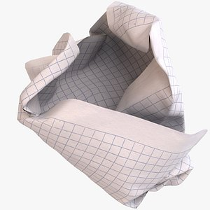 crumpled ball graph paper 3D model