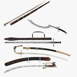 3D model 5 North African Swords