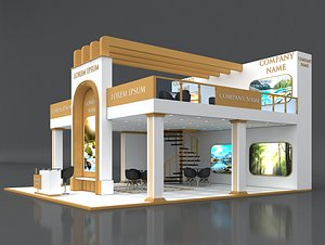 3D model 5 Exhibition Stand Stall Fair 3D Model Collection