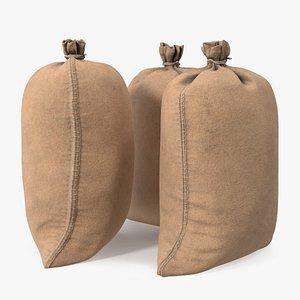 Standing Military Sandbags 3D model