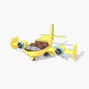 3D Toon Aircraft Airship