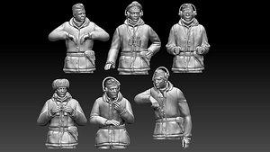 German tank crew ww2 3D