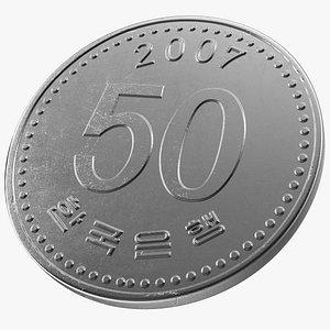 South Korea 50 Won 2007 Coin model