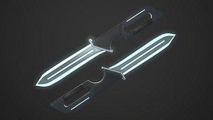 Sci-Fi Knife 3D