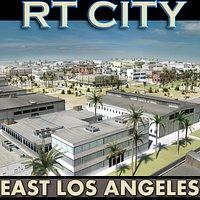East Los Angeles Stylised_Skyline Low-Res Textured