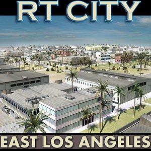 city street east los angeles 3d 3ds