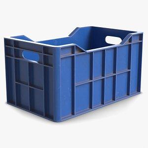 Plastic Crate Storage Bin 1 model