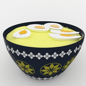 3D model decorative bowl eggs