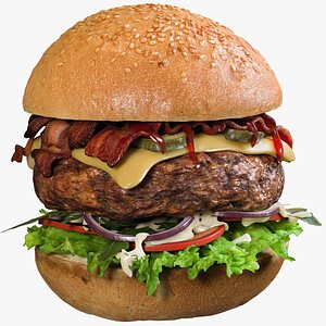 realistic burger 3D