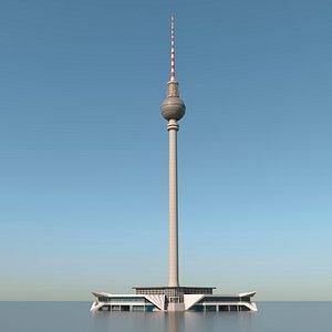 berlin tv tower 3D model