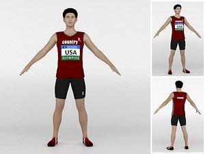 3D Athlete Runner 06