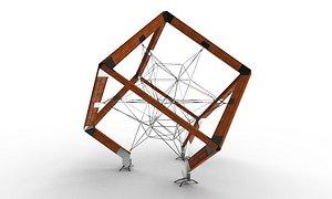 cube artobject complex 3D model