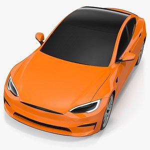 3D Electric Liftback Sedan Exterior Only model