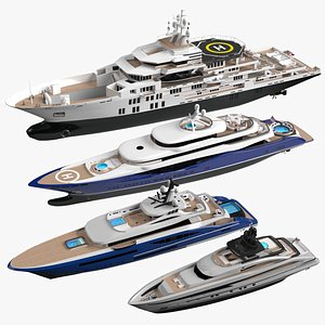 Collections yachts  Adventure Summer 2021 3D model
