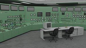 3D Fukushima Daiichi nuclear power plant control room
