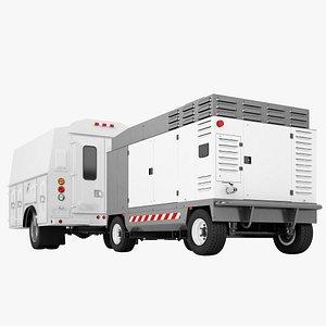 Service Truck Cabin 05 3D