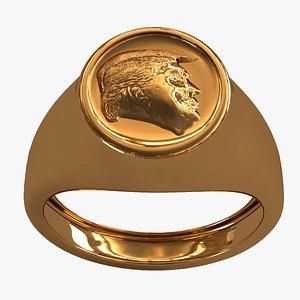 3D Ring Donald Trump 0006 model