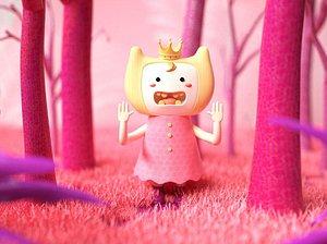 Mangrove pink C4D cartoon style princess 3D model