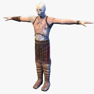 war warrior skeleton 3D model