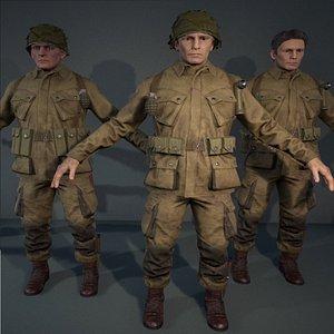 3D character man model