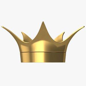 3D Cartoon King Crown model