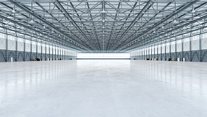 interior hangar 3D model