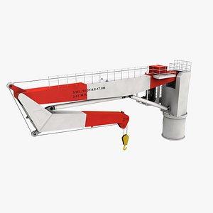 nieborg ship deck crane port 3D model