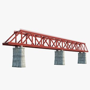 Railroad bridge model