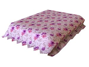 Floral Bedsheet 3D