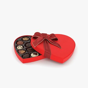 3D Chocolate Box Heart model