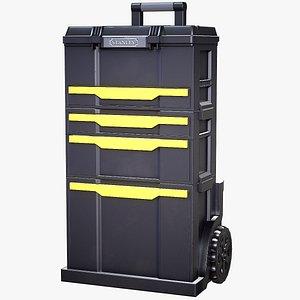 3D crates stanley toolbox model