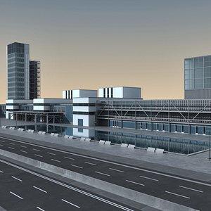 3D Modern Building 135 Scene model
